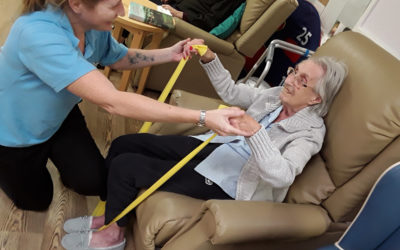 Gfitness and Miss Holiday Swing come to Abbotsleigh Care Home