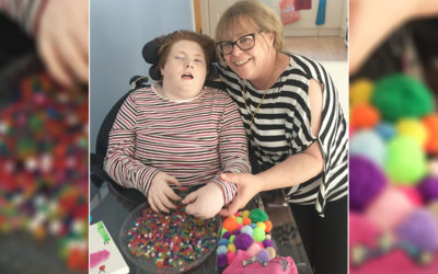 Furloughed Abbotsleigh Care Home staff member Leigh and her daughter Mollie