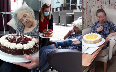 Triple birthday celebrations at Abbotsleigh Care Home