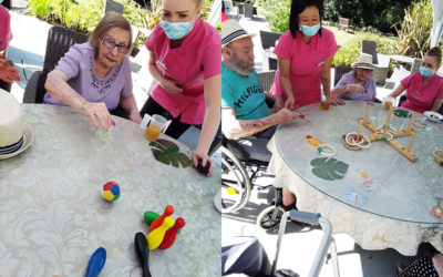 Table Top Olympics and birthday celebrations and Abbotsleigh Care Home