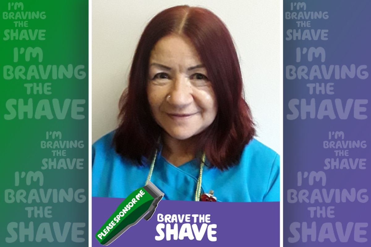 Tracey Hampton at Abbotsleigh Care Home is braving the shave