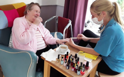 From creative bird feeders to colourful nails at Abbotsleigh Care Home