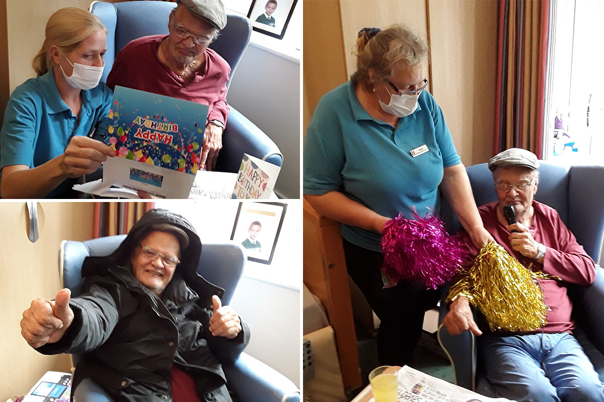 Birthday celebrations and fancy manicures at Abbotsleigh Care Home