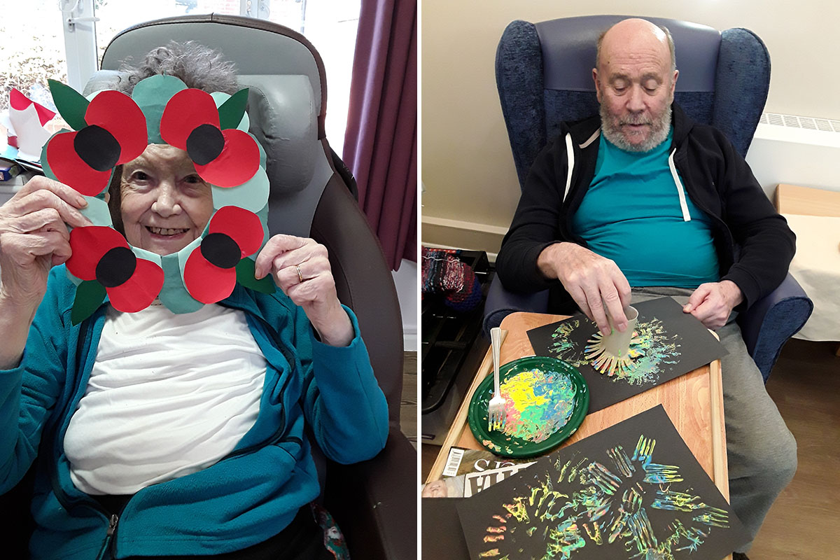 Creating beautiful art and scrumptious sandwiches at Abbotsleigh Care Home