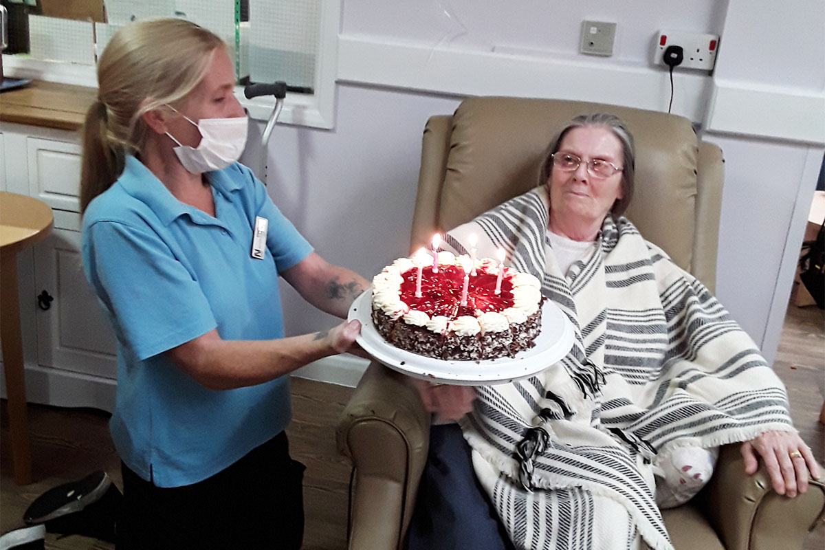 Birthday wishes for Carole at Abbotsleigh Care Home