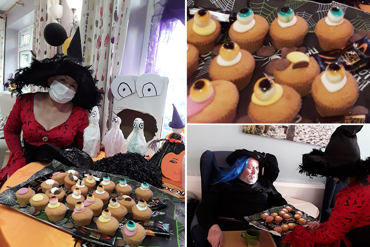 Halloween decorations and tea party at Abbotsleigh Care Home