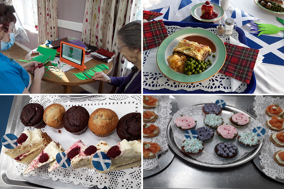 Burns Night treats at Abbotsleigh Care Home