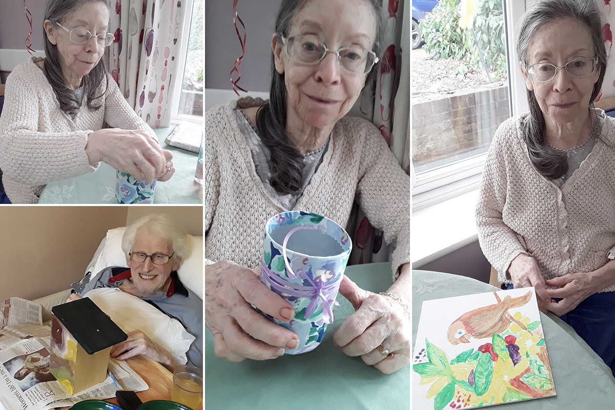 Colourful crafts at Abbotsleigh Care Home