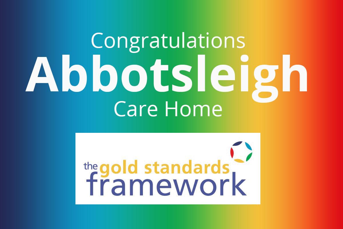 Abbotsleigh Care Home nominated for Gold Standards Framework Award