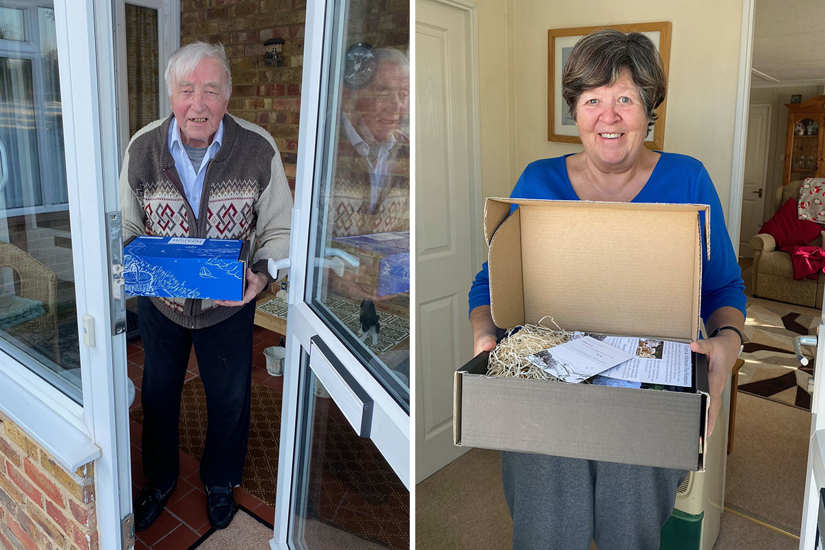 Valentines doorstep deliveries and reminiscence at Abbotsleigh Care Home
