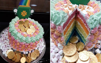 St Patrick's Day cake at Abbotsleigh Care Home