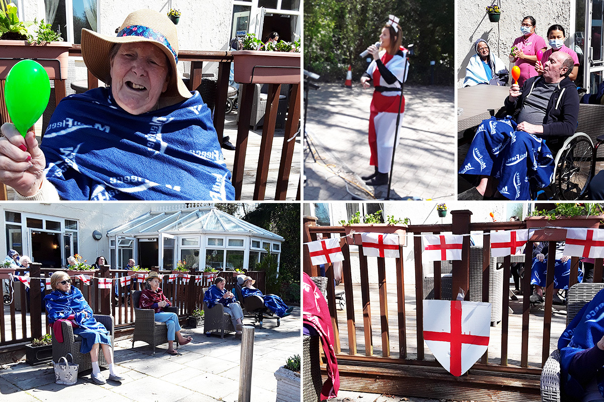 St Georges Day fun at Abbotsleigh Care Home