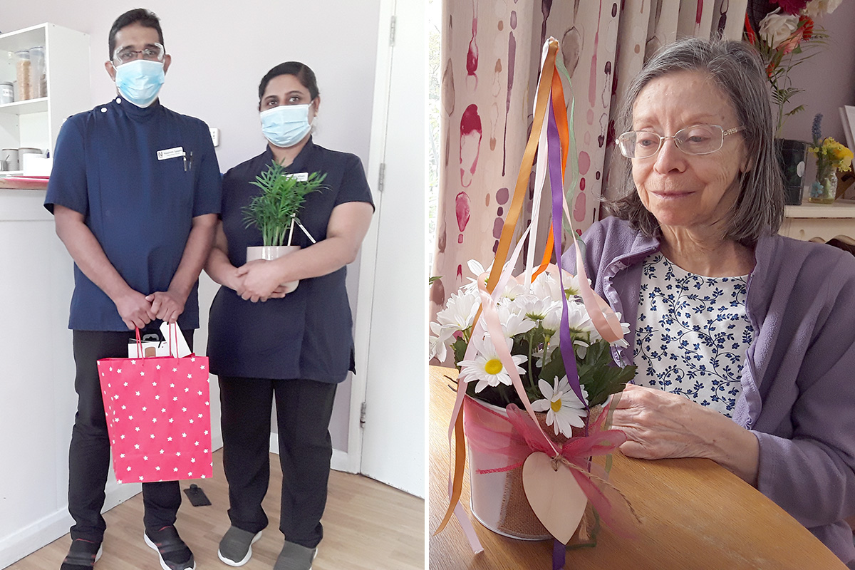 May Day flowers and a fond farewell at Abbotsleigh Care Home