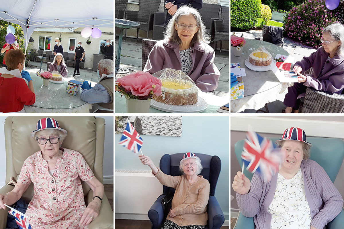 Happy birthday to Jenny and the Queen at Abbotsleigh Care Home