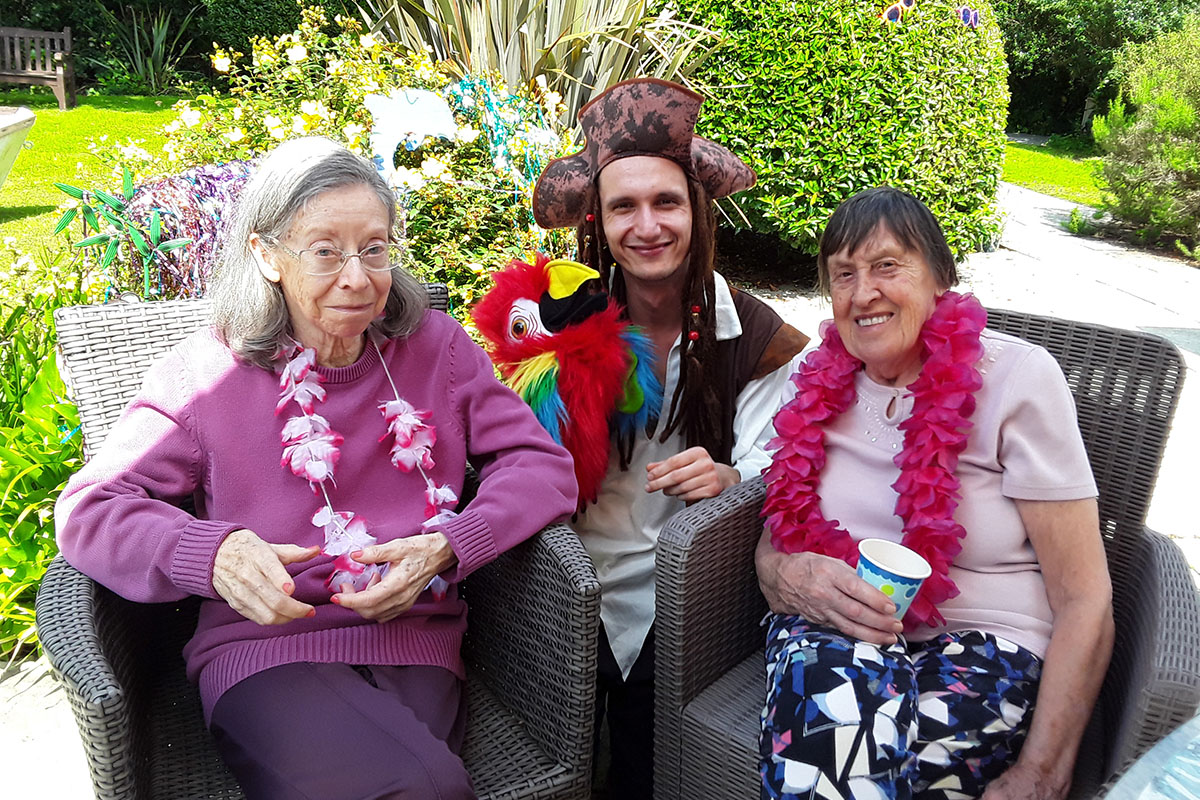 Caribbean Day with a pirate at Abbotsleigh Care Home