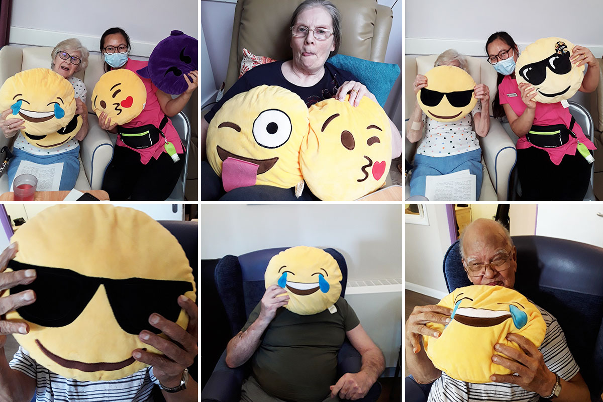 Abbotsleigh Care Home residents and staff have fun with emoji selfies